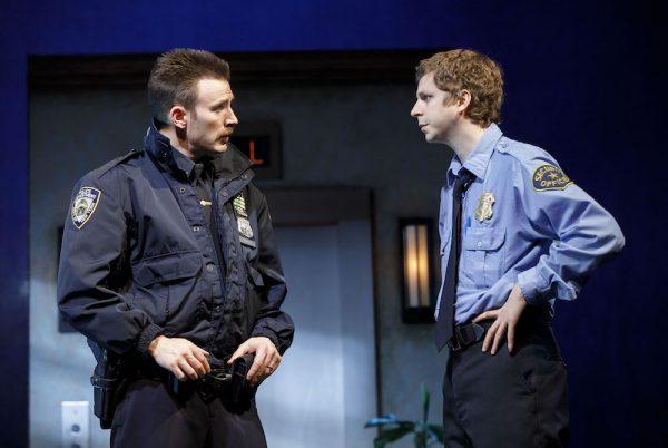 Chris Evans and Michael Cera in Lobby Hero. Credit: Joan Marcus