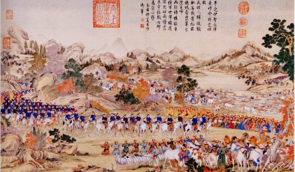 Receiving_the_surrender_of_the_Yili