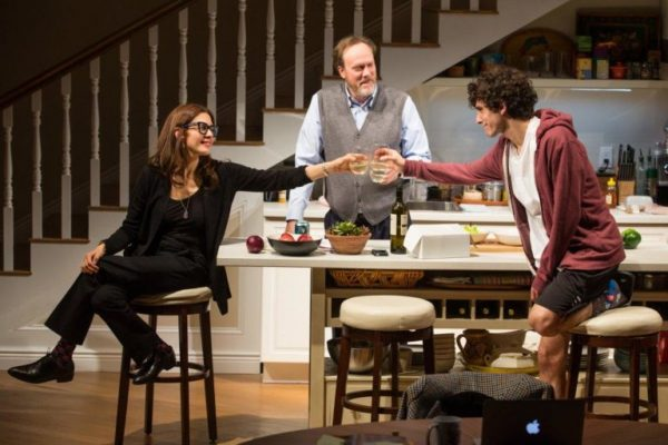 Jessica Hecht, Andrew Garman, and Ben Edelman in Admissions. Credit: Jeremy Daniel