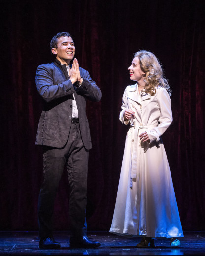Conrad Ricamora and Alyse Alan Louis in Soft Power.