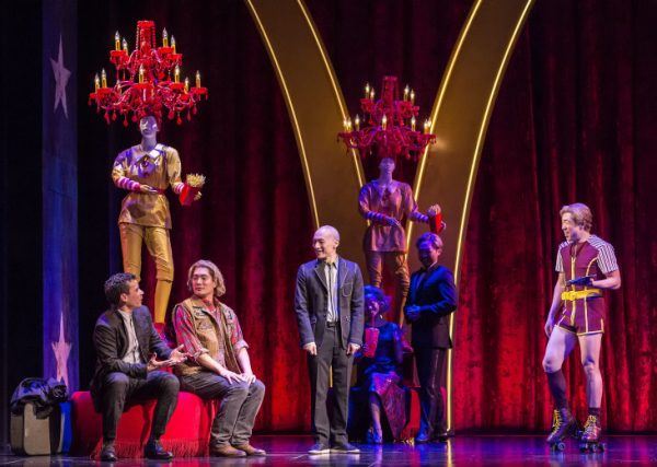 The cast of Soft Power at The Ahmanson Theatre.