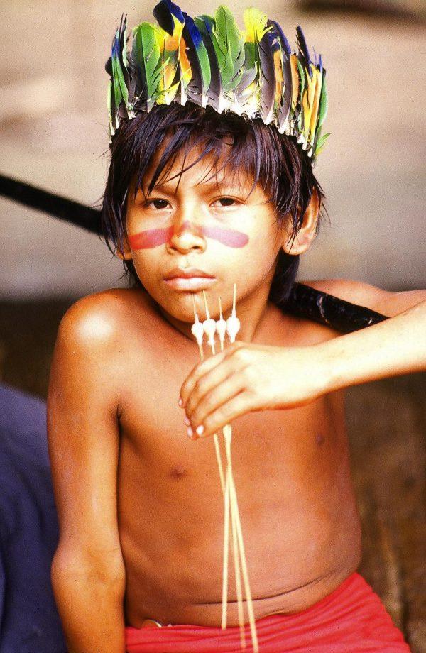 Iquitos, Peru. Jivaro boy, Amazon (c) Elisa Leonelli 1981