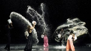"""Pina Bausch's dancing company in the """"Pina"""" film."""
