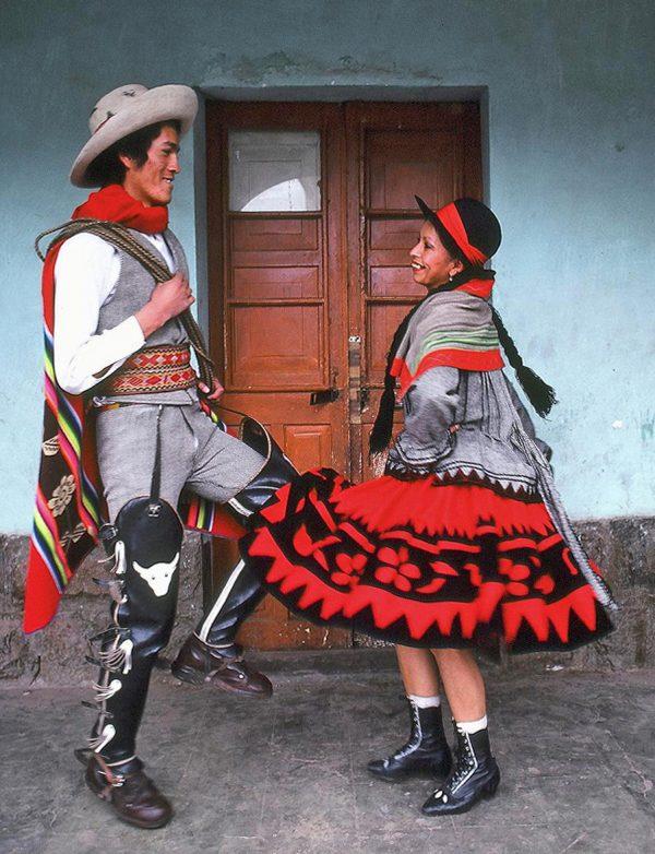Cuzco, Peru. Folkloric dancers. Chumbivilcana (c) Elisa Leonelli 1981