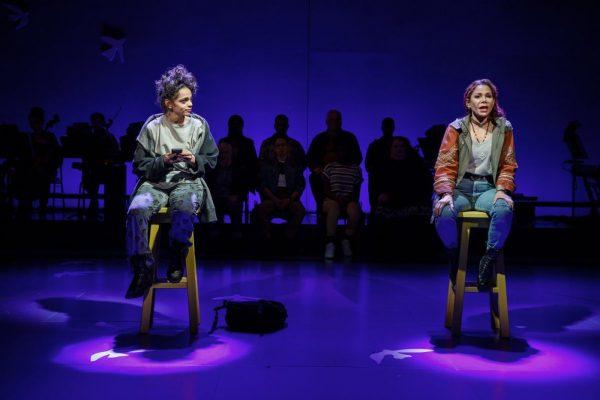 Gizel Jimenez and Daphne Rubin-Vega in Miss You Like Hell. Credit: Joan Marcus