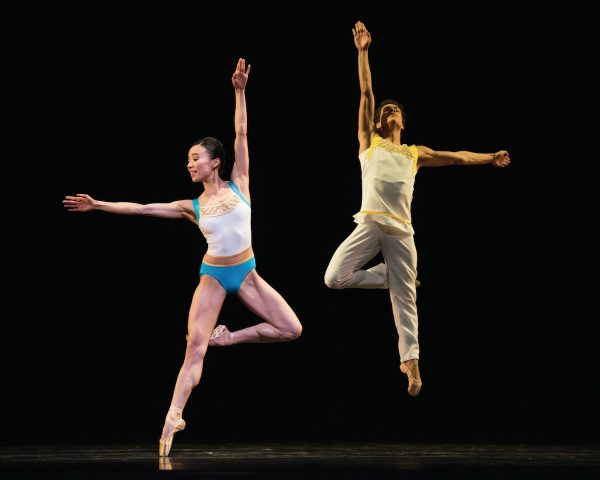 "Frances Chung and Esteban Hernandez in Stanton Welch's ""Bespoke"". Photo by Erik Tomasson."
