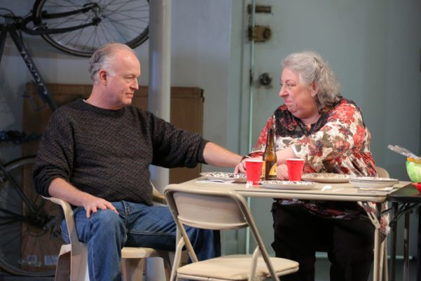 Reed Birney & Jayne Houdyshell in The Humans at The Ahmanson Theatre.
