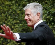 Chef Anthony Bourdain poses at the 2015 Creative Arts Emmy Awards in Los Angeles, California September 12, 2015. REUTERS/Danny Moloshok - GF10000203717