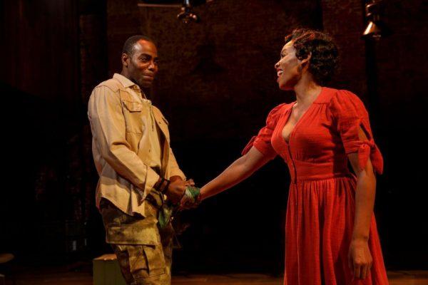 Clifton Duncan and Anika Noni Rose in Carmen Jones. Credit: Joan Marcus