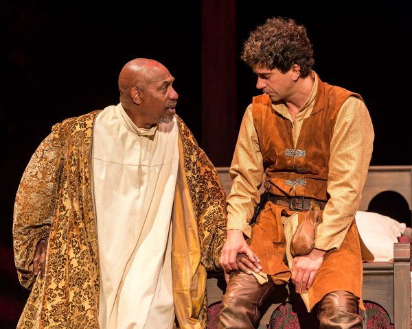 l-r: Joe Morton and Hamish Linklater in the SCLA production of Henry IV. Photo by Craig Schwartz.
