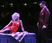 "Laura Bell Bundy and Robert Mammana in Reprise 2.0 ""Sweet Charity"". Photo by Michael Lamont."