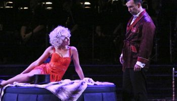 """Laura Bell Bundy and Robert Mammana in Reprise 2.0 """"Sweet Charity"""". Photo by Michael Lamont."""