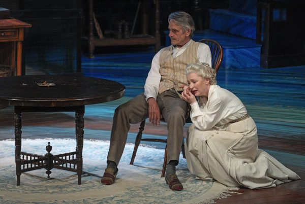Jeremy Irons and Lesley Manville in Long Day's Journey Into Night at The Wallis. Photo by Lawrence K. Ho.