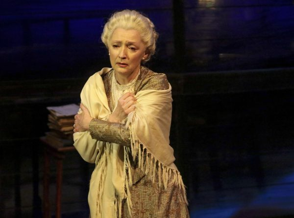 Lesley Manville as Mary Tyrone in Long Day's Journey Into Night at The Wallis. Photo by Lawrence K. Ho.