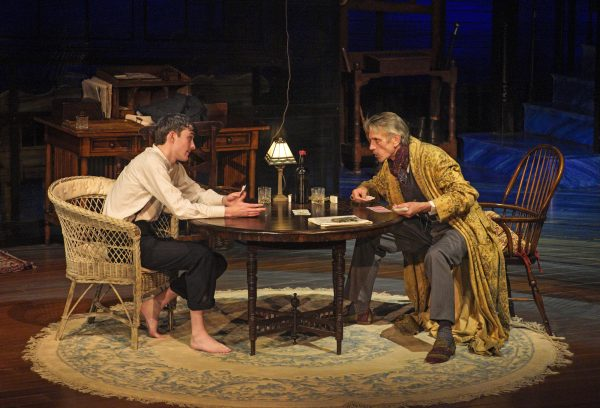 l-r: Matthew Beard & Jeremy Irons in Long Day's Journey Into Night at The Wallis. Photo by Lawrence K. Ho.