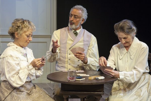 l-r, Lily Knight, Marcelo Tubert & Reba Waters Thomas in Three Days In the Country at Antaeus.