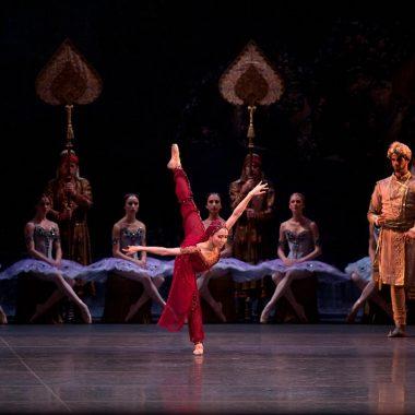 "Hee Sao as Nikiya in American Ballet Theatre's ""La Bayadère"".  Photo by Rosalie O'Connor."