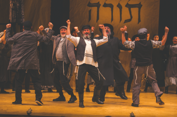 Steven Skybell (center) and the company of Fiddler on the Roof. Credit: Victor Nechay/Proper Pix