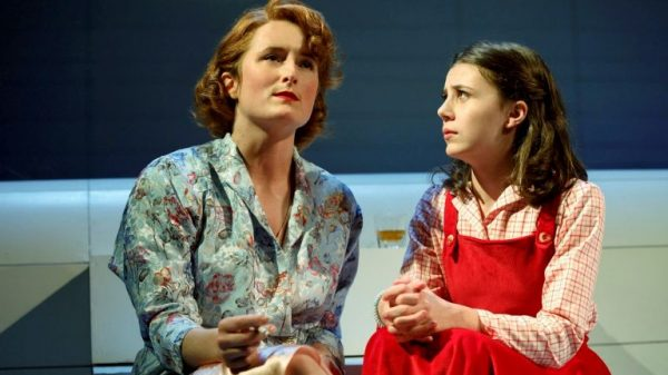 Grace Gummer and Mia Sinclair Jenness in Mary Page Marlowe. Credit: Joan Marcus