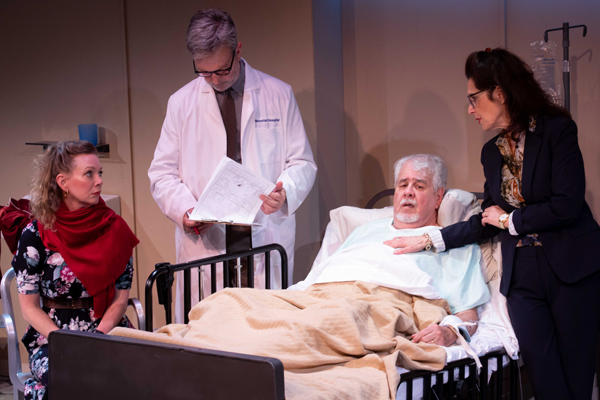 l-r, Rachel Sorsa. Robertson Dean, John Perrin Flynn & Leslie Ayvazian in 100 Aprils At Rogue Machine Theatre.