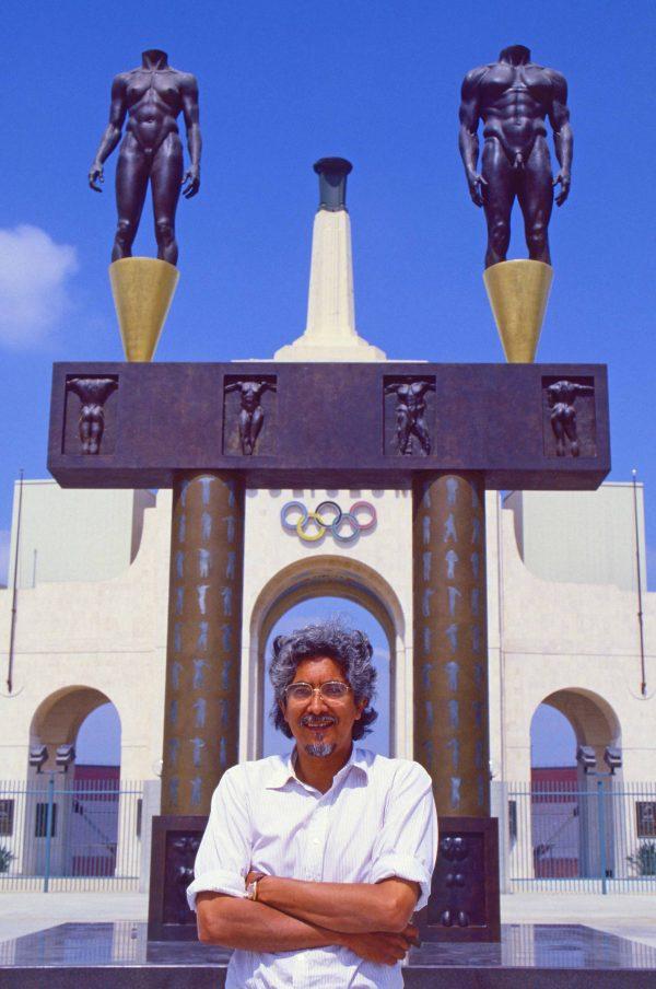 Sculptor Robert Graham. LA Coliseum