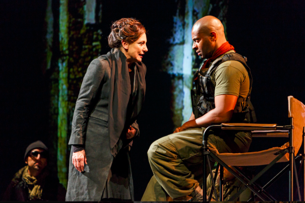 Lucy Peacock and Andre Sills in Coriolanus. Credit: David Hou