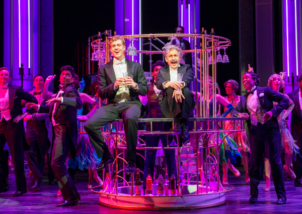 James Daly and Michael Therriault with the cast of Grand Hotel, The Musical. Photo by David Cooper.