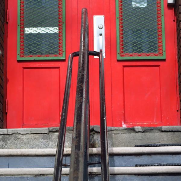 school door front or exit?