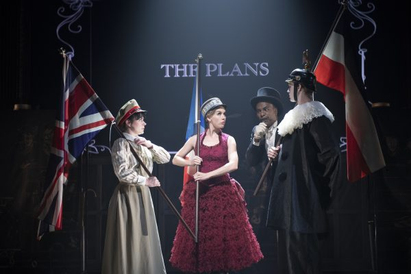 Marla McLean, Kristi Frank, James Daly and Allan Louis in Oh What a Lovely War. Photo by David Cooper.