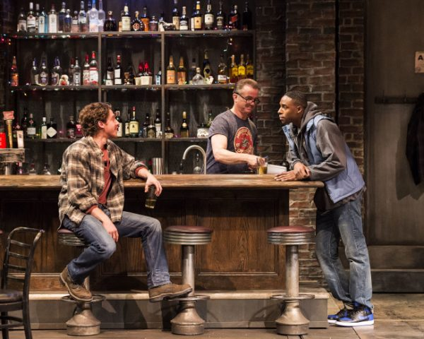 l-r, Will Hochman, Michael O'Keefe & Grantham Coleman in Sweat at The Mark Taper Forum.