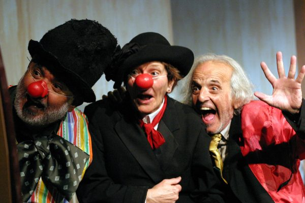 José A. Garcia, Beth Hogan and Alan Abelew in Old Clown Wanted at The Odyssey.