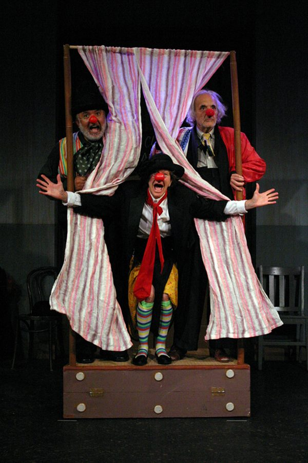 l-r, Garcia, Horan & Abelew in Old Clown Wanted at The Odyssey.