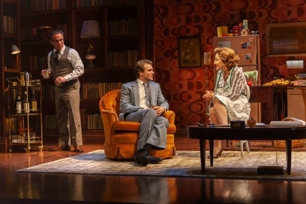 Peter Scolari, Austin Cauldwell, and Edie Falco in The True. Credit: Monique Carboni