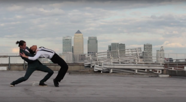 Controlled falling in Longo Dance Film