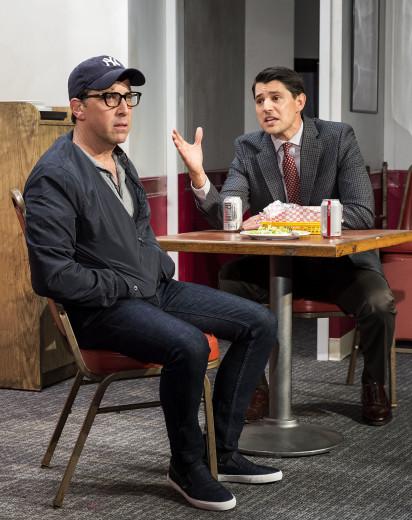 Dan bucatinsky (left) & Nichola d'Agosto in Quack at the Kirk Douglas Theatre in Culver City.