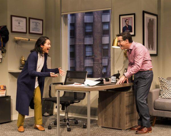 Jackie Chung & Dan Bucatinsky in Quack at the Kirk Douglas Theatre.
