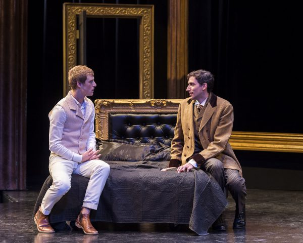 l-r, Colin Bates & Amin El Gamal in A Portrait of Dorian Gray at A Noise Within.
