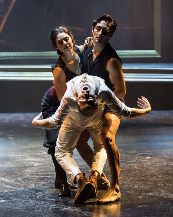 Colin Bates (foreground) and dancers in A Portrait of Dorian Gray at A Noise Within.