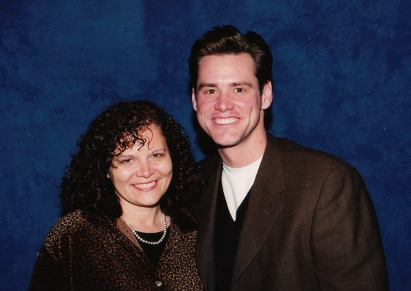 Elisa Leonelli with Jim Carrey (c) HFPA 1997