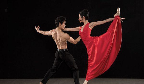 Los Angeles Ballet's Kenta Shimizu & Petra Conti. Photo by Reed Hutchinson.