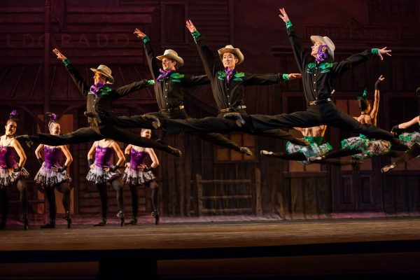 """Los Angeles Ballet in """"Western Symphony"""". Photo by Reed Hutchinson."""