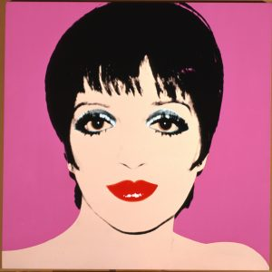 Liza Minnelli, 1979. Acrylic and silkscreen ink on linen. Contribution Dia Center for the Arts. Licensed by Artists Rights Society (ARS), New York.