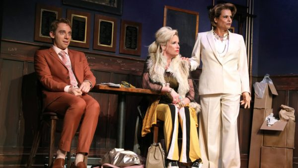 Max Gordon Moore, Johanna Day, and Alexandra Billings in The Nap. Credit: Joan Marcus