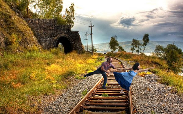 "Mark Yamor & Pam Heffler in ""Train of Love: Life and Love On and Off the Rails."" Photo courtesy of the artists."