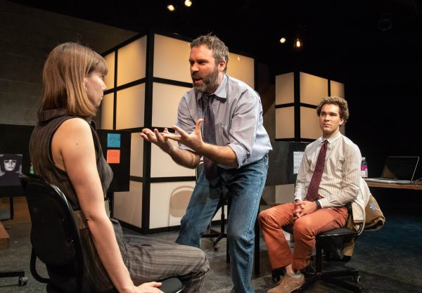 l-r, Alana Dietze, Seven Strobel and Michael Sturgis in Gloria at the Echo Theatre. Photo by Jenny Graham.
