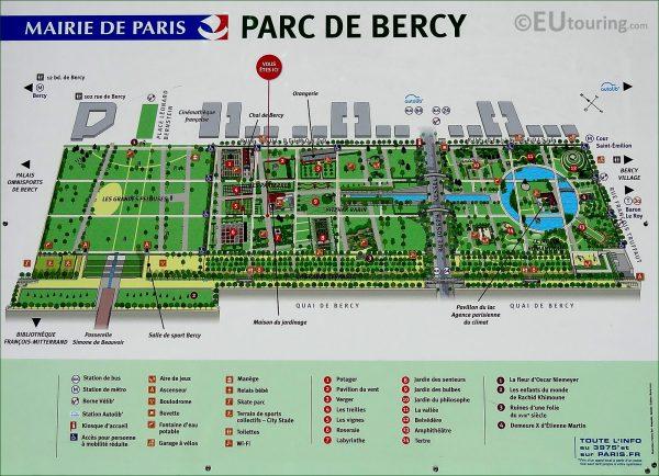 Parc de Bercy Plan