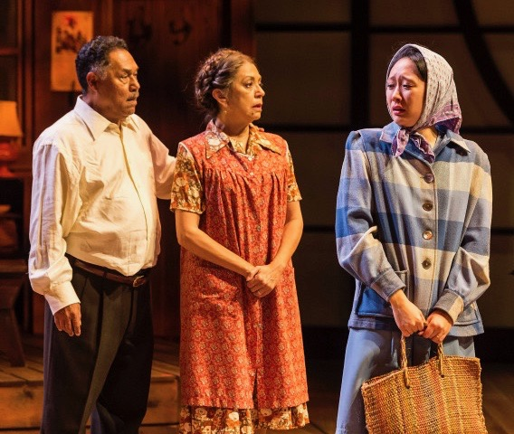l-r, Daniel Valdez, Rose Portillo & Joy Osmanski in Valley of the Heart at The Mark Taper Form.