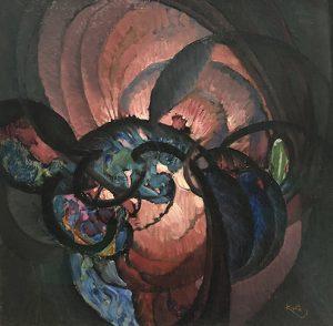 Frantisek Kupka, Traits noires enroules (1920)