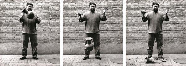 Ai Weiwei, Dropping a Han Dynasty Urn, 1995 (printed 2017), gelatin silver prints, courtesy Ai Weiwei Studio