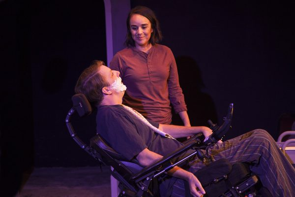 Tobias Forrest and Xochitl Romero in Cost of Living at The Fountain Theatre.